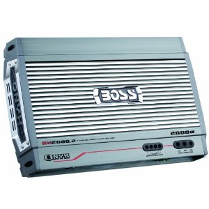 Boss NX2000.2 2000 Watt 2-Channel Mosfet Bridgeable Amplifier with Remote