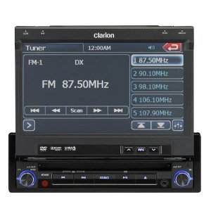 Clarion NZ409 7-Inch Single DIN Mulitmedia Station with Touch Panel Control, USB and Built-In Navi System