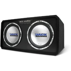 MTX JackHammer JH4512X2D - Car subwoofer - 500 Watt - black
