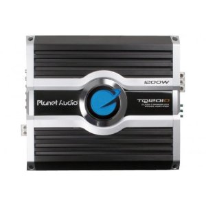 Planet Audio TQ1201D 1200 Watts 1-OHM Stable Max Power Class D Monoblock Power Amplifier