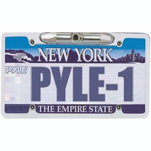 PYLE PLCM21 License Plate Camera Zinc Metal Chrome with 0.3 Lux at F2-Inch