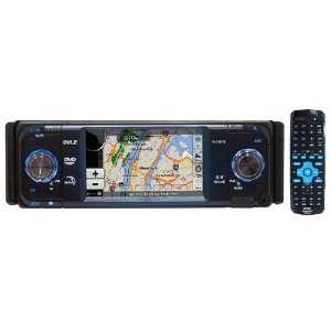 PYLE PLDNV36 3.5-Inch TFT Touch Screen DVD/CD/MP3 Player/AM/FM/SD-USB Receiver with Built-in GPS and USA/Canada/Mexico Maps