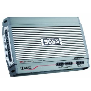 Boss NX2000.4 2000 Watt 4-Channel Mosfet Bridgeable Amplifier with Remote