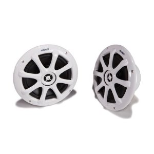Kicker 09KM6200 KM Series 6-Inch Mid/20 mm Tweeter Marine Coaxial Speaker