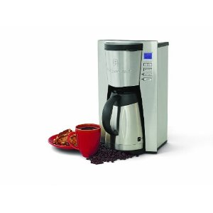 Wolfgang Puck WPTPCM010 12-Cup Programmable Coffeemaker with Stainless-Steel Thermal Carafe