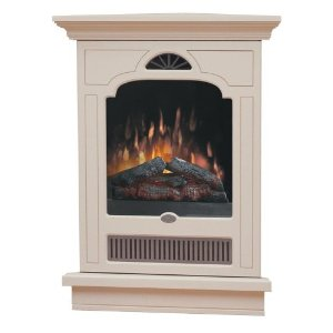 Dimplex EWMC-CC-SS Symphony Wall-Mounted Corner-Style Electric Fireplace, Cream