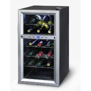 Kalorik WCL-20629 Thermoelectric Dual-Zone 18-Bottle Ventilated Wine Cooler