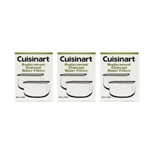 Cuisinart DCC-RWF-3PK Charcoal Water Filters, 1 Year Supply, Includes 3 DCC-RWF packages. 2 Filters