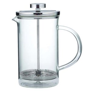 GROSCHE SYDNEY Coffee Press All Glass body with Stainless Steel Press, 3 cup- 350 ml- 11.8 fl Oz Capacity