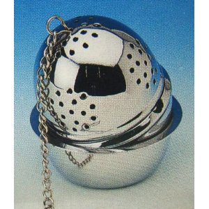 Chrome Tea Ball Infuser with Drip Cup - 2