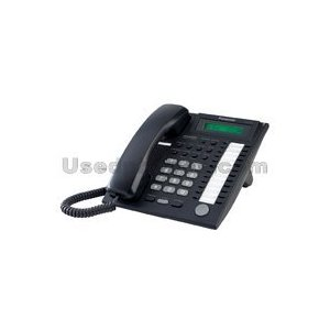 Panasonic 24-Button Proprietary Speakerphone Telephone With Backlit 1-Line LCD Display And Keypad - White - Model KX-T7731 Corded Business