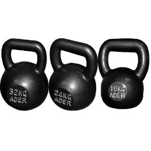 Competition Kettlebell w/ DVD Set: 16kg, 24kg, 32kg