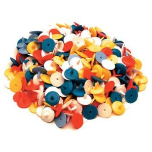 Flat Golf Ball Markers 25 ct Assorted Colors Plastic