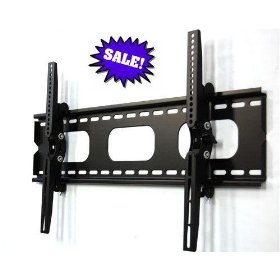 NHJ Direct Tilting Wall Mount Bracket for 32 36 37 40 42 46 47 50 52 55 inch Flat Panel Display--Color Black