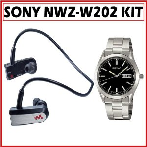 Sony NWZ-W202BLK Headphone-Style Walkman MP3 Player + Seiko SGF719 Men's Dress Watch