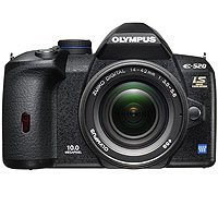 Olympus E-520 10.0 Megapixel Digital SLR Camera Body with 14-42mm Lens - Refurbished by Olympus U.S.A.