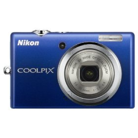 Nikon Coolpix S570 12MP Digital Camera with 5x Wide Angle Electronic Vibration Reduction (VR) Zoom and 2.7-Inch LCD (Blue)