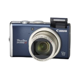 Canon PowerShot SX200IS 12.1 MP Digital Camera with 12x Wide Angle Optical Image Stabilized Zoom and 3.0-inch LCD (Blue)