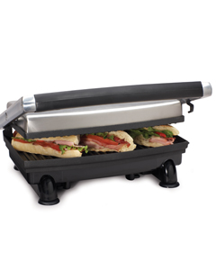 Toastess tsg373 grill panini brushed stainless