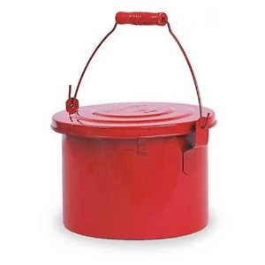 Eagle B-604 Safety Bench Can 4-Quart Metal Red