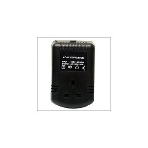 VT 100 UK - 100 Watt Step Up Converter For 220V/240V Products with UK Style Plug To Work In USA.