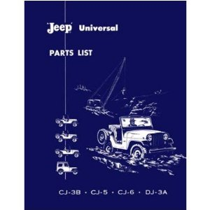 1953 1961 1962 1963 1964 JEEP Parts Book List Guide