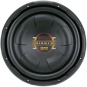 Boss Audio D10F 10-Inch 4-Ohm Diablo Flat Subwoofer - Single (Black)
