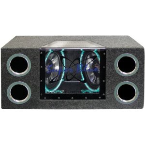 Pyramid BNPS102 10-Inch 1000-Watt Dual Bandpass System with Neon Accent Lighting