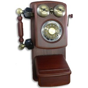 Golden Eagle 8705D Country Wood Phone Mahogany