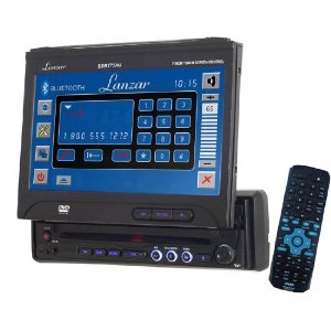 LANZAR SDBT75DN 7-Inch Motorized TFT Touch Screen DVD/ CD/ MP3 Player/ AM/ FM/ SD Card-USB with Bluetooth