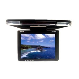 XO Vision GX1238 12.1-Inch Overhead Monitor with Built-In IR Transmitter for Headphones
