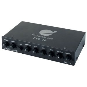 Planet Audio PEQ10 4 Band Graphic Equalizer Subwoofer Output with Adjustable Crossover