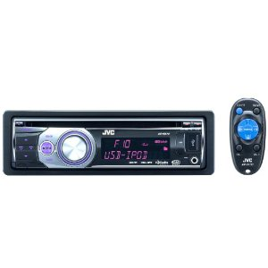 JVC KD-R610 USB/CD Receiver w/ Front AUX, USB 2.0 Port for iPod/iPhone, and HD Radio/Satellite Radio/Bluetooth add-on capability