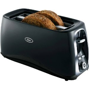 Oster TSSTTR4SLL Black 4-Slice Long Slot Toaster