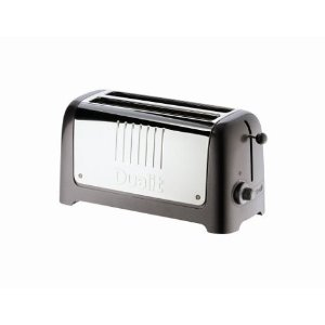 Dualit 45375 Lite 4-Slice Toaster, Soft Touch Black