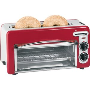 Hamilton Beach 2 in 1 Toastation Toaster and Oven - Red