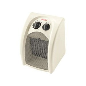 SunbeamTM Compact Ceramic Heater with Adjustable Thermostat - Model: SCH160