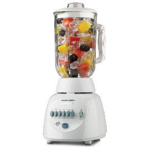 Black & Decker BL10450H Crush Master 10-Speed Blender with 42-Ounce Glass Jar, White