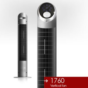 Miallegro 1760 Air Ionizer Tower Fan with Remote Control (Oscillates internally)