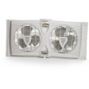 Sunbeam SWF3000 Twin Window Fan with Thermostat