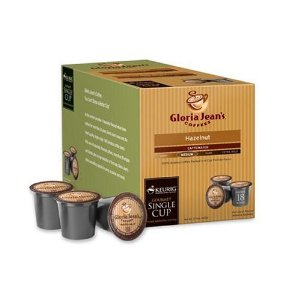 Gloria Jean's Hazelnut Coffee Keurig K-Cup Mini-Brewers, 18 Count