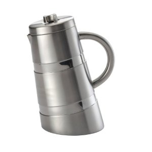 BonJour 8 Cup Montano French Press, Double Wall Stainless Steel