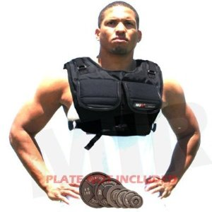 MIR Short Style Workout Plate weight Vest / Hold Up To 40LBS Weighted Vest