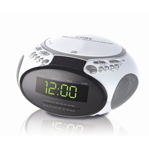 Coby cdra145 clock radio cd alarm dual voltage