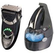 Remington MS-5500 Titanium Smart System Cord/Cordless Shaver with Cleaning Base