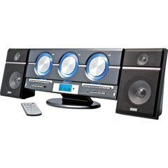 Vertical 3 CD Changer System With Digital Tuner, Remote Control And 2-Way Speakers