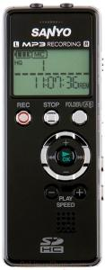 Sanyo icrfp700d voice recorder digital 544hours recording mp3