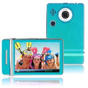 Ematic 3.0 Inches Touch Screen Color MP3 Video Player W/Built-in 5MP Digital Camera with Video Recording, FM Radio & Speaker 8 GB BLUE