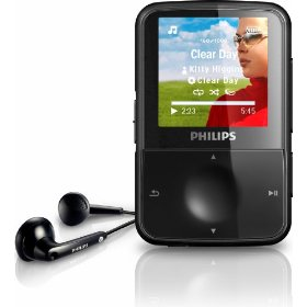Philips GoGear 4 GB MP3 video player with Sport Headphones (Black)