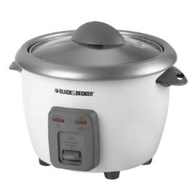 B&d rc3406 rice cooker 6cup steamer
